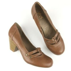 Jellypop Size 8.5 Pumps Finny Brown Rounded